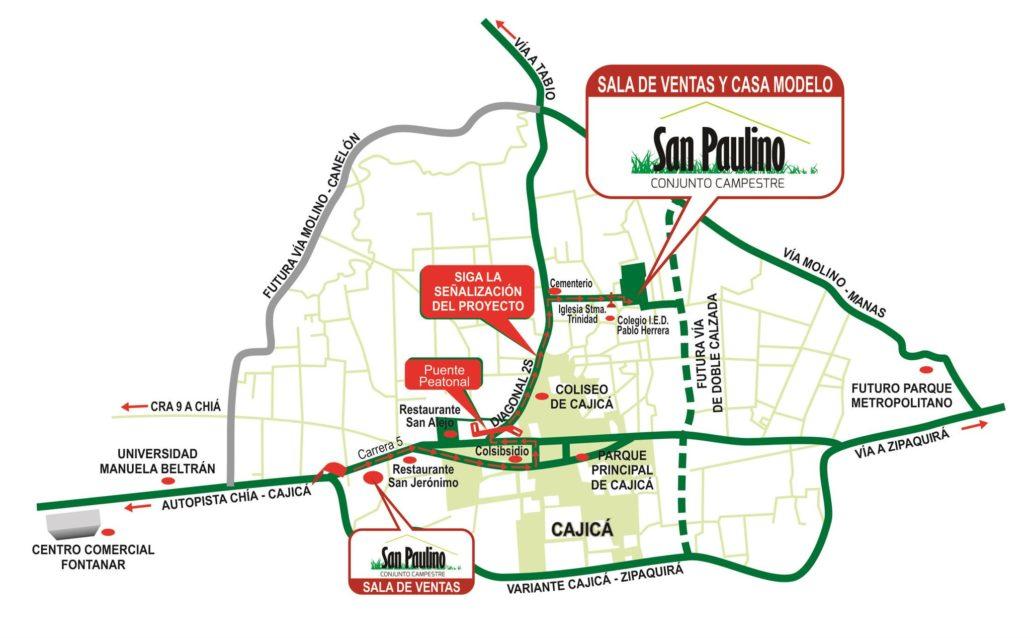 San Paulino - Mapa de Localizacion